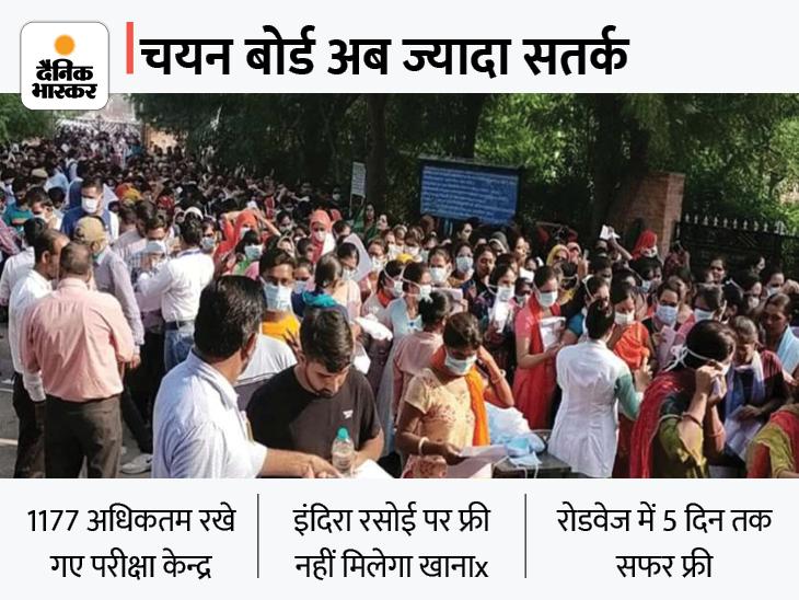 मेटल डिटेक्टर से होगी जांच, डेढ़ घंटे पहले पहुंचना होगा परीक्षा केंद्र; फ्री में नहीं मिलेगा खाना|जयपुर,Jaipur - Dainik Bhaskar
