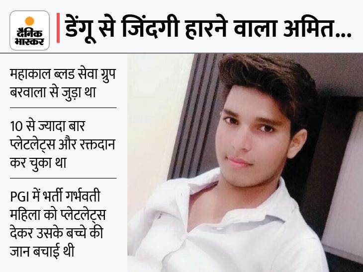 10 बार प्लेटलेट्स देकर दूसरों की जान बचाने वाले युवक की उसी की कमी से गई जान करनाल,Karnal - Dainik Bhaskar