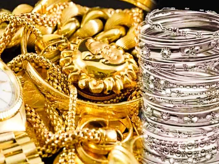 24 कैरट 10 ग्राम सोने की कीमत बढ़कर पहुंची 49 हजार 100 रुपए, चांदी प्रति किलो 67 हजार|जयपुर,Jaipur - Dainik Bhaskar