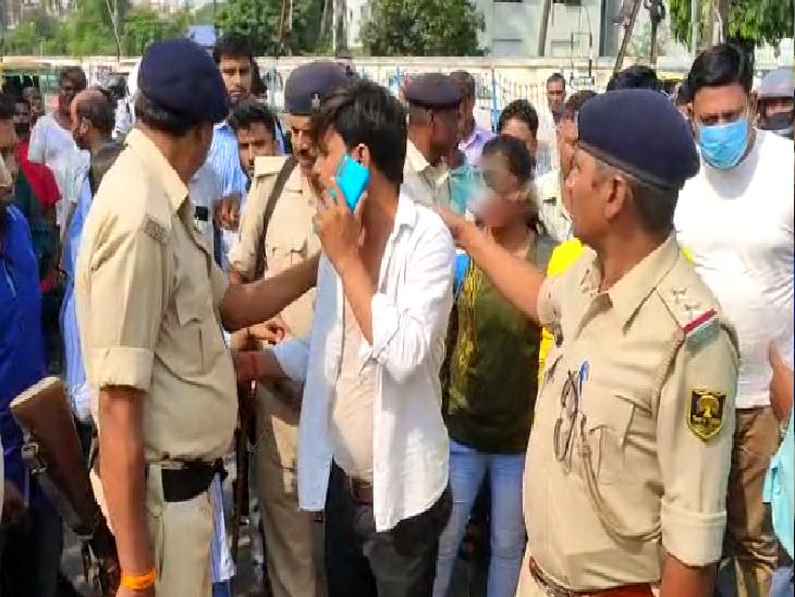 पटना विमेंस कॉलेज के पास हाई वोल्टेज ड्रामा; युवती बोली- छेड़ रहा था, युवक ने कहा- झूठा आरोप|पटना,Patna - Dainik Bhaskar