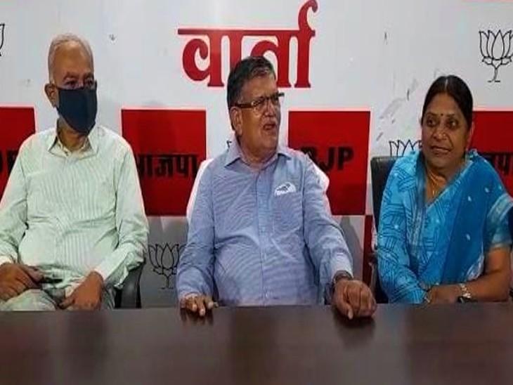 कहा, केन्द्र सरकार जब सभी राज्यों को टीके भेज रही थी तब सीएम और चिकित्सा मंत्री टीके नहीं होने की हवा बना रहे थे, डोटासरा और खाचरियावास पर भी कसा तंज|जयपुर,Jaipur - Dainik Bhaskar
