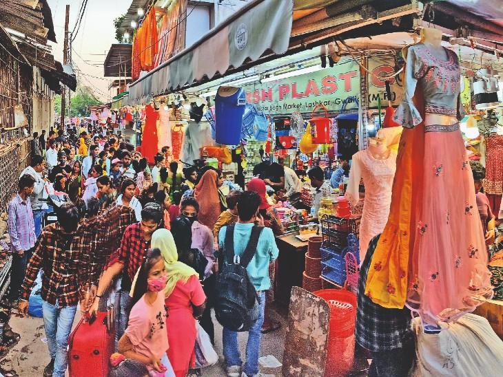 चीनी आयटम की आमद घटी इसलिए त्योहार पर इनकी कीमतें 40 प्रतिशत तक बढ़ीं|ग्वालियर,Gwalior - Dainik Bhaskar