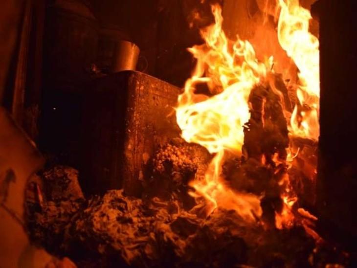 कोक ओवन के पीवीसीपी प्लांट में लगी आग, 3 दिन उत्पादन ठप|भिलाई,Bhilai - Dainik Bhaskar