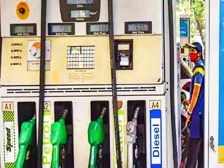22 दिनों में 17 बार बढ़े तेल के दाम, पेट्रोल 113.74 और डीजल 104.96 रुपए लीटर पर पहुंचा|जयपुर,Jaipur - Dainik Bhaskar