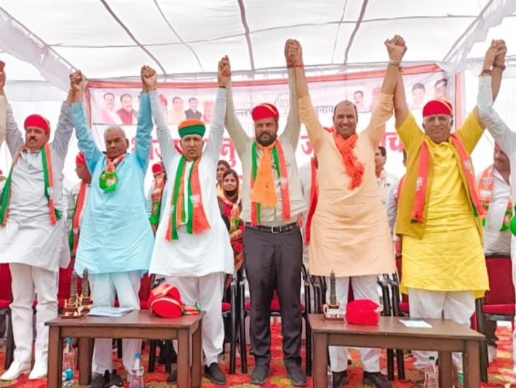 केंद्रीय मंत्री अर्जुनराम मेघवाल बोले- बेरोजगारों युवाओ के साथ धांधली करने वालो को उपचुनावों में झटका दें उदयपुर,Udaipur - Dainik Bhaskar