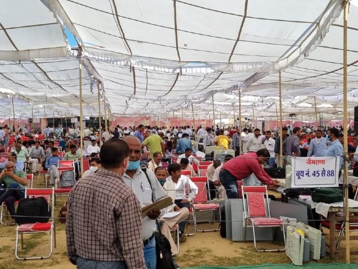 6 पंचायत समिति क्षेत्रों में 7 लाख 25 हजार वोटर, पहले चरण में हुई थी 66 फीसदी वोटिंग|अलवर,Alwar - Dainik Bhaskar