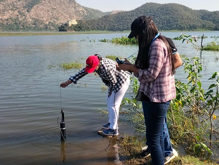 दिल्ली टेक्नोलॉजी यूनिवसिर्टी की टीम का रिसर्च, 3 साल में पानी की गुणवत्ता हुई खराबू|अलवर,Alwar - Dainik Bhaskar