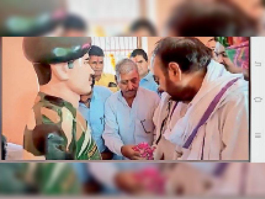 मुख्य अतिथि करौली विधायक लाखन सिंह ने कहा- सेना के जवानों की बदौलत ही हम सुरक्षित|जयपुर,Jaipur - Dainik Bhaskar