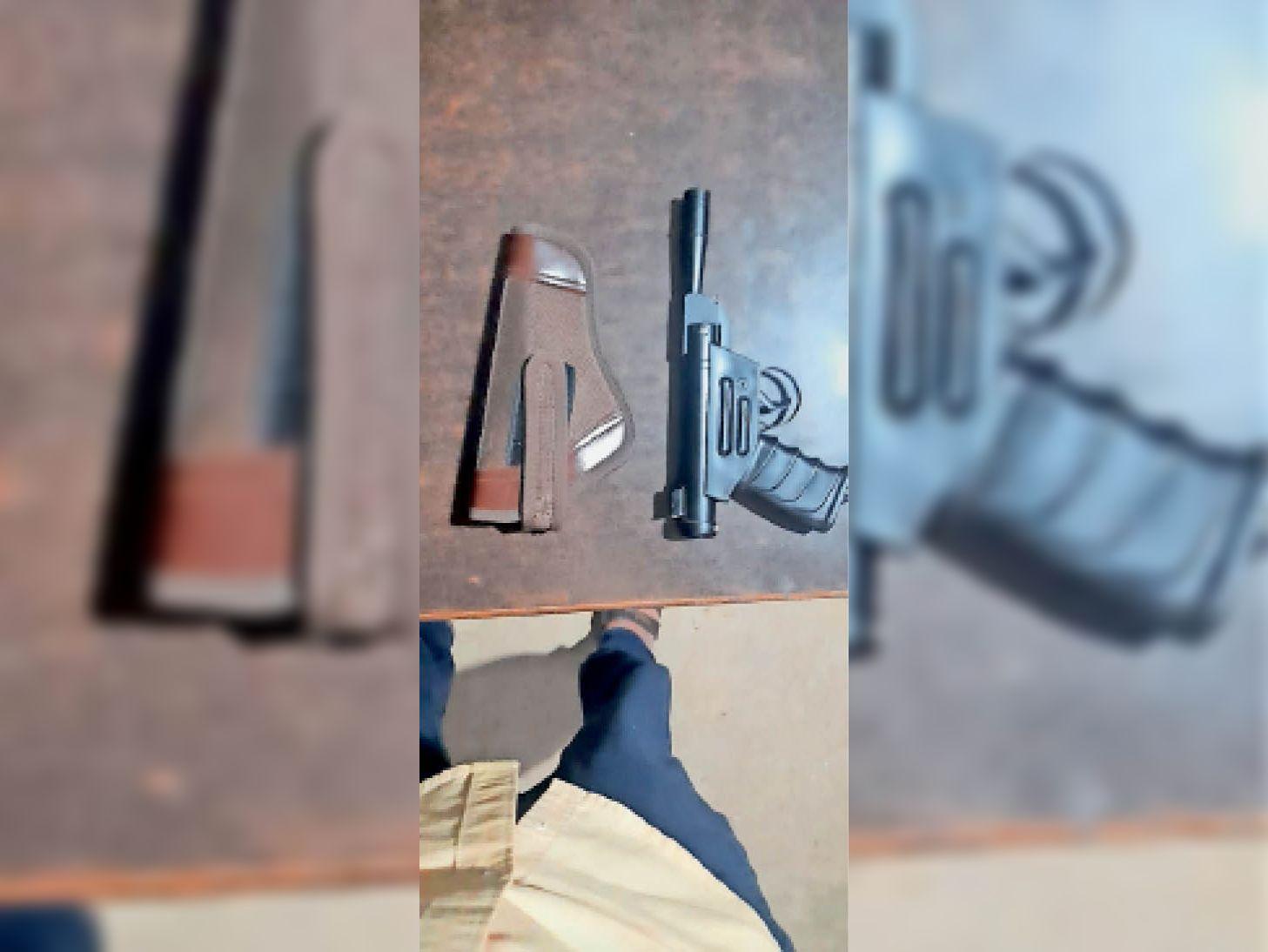 आधा घंटे तक एयरगन से दुकानदारों को धमकाता रहा युवक, 3 घंटे बाद गिरफ्तार|जयपुर,Jaipur - Dainik Bhaskar