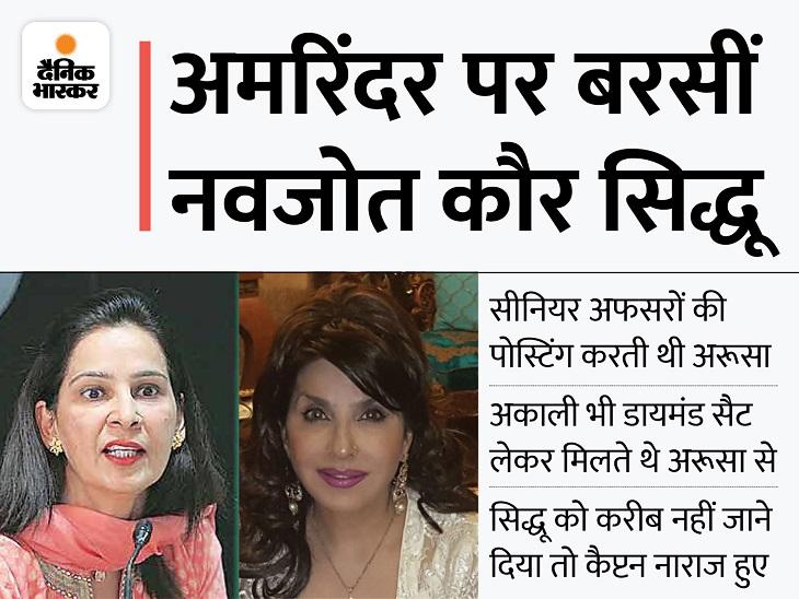 पंजाब में अरूसा को गिफ्ट-पैसे देकर होती थी पोस्टिंग, कैप्टन राज में थीं सुपर CM जालंधर,Jalandhar - Dainik Bhaskar