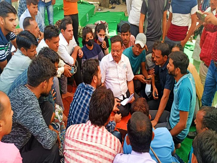 21 सूत्री मांगों को लेकर बेरोजगारों को फिर दिया वार्ता का न्योता, बोले- जल्द होगा समाधान|जयपुर,Jaipur - Dainik Bhaskar