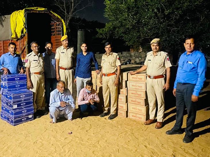 लग्जरी गाड़ी से आगे एस्कॉर्ट करते ले जा रहे थे शराब से भरा ट्रक, 360 पेटी पकड़ी, 5 गिरफ्तार|जयपुर,Jaipur - Dainik Bhaskar
