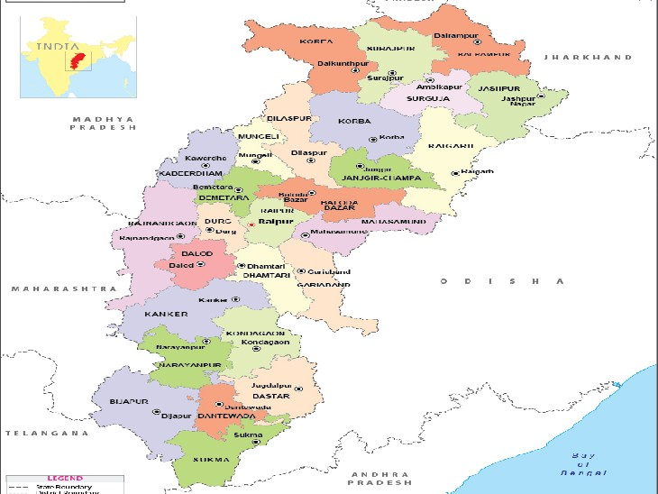 नए जिले के गठन की प्रकिया शुरू, 1 जनवरी से अस्तित्व में|रायपुर,Raipur - Dainik Bhaskar