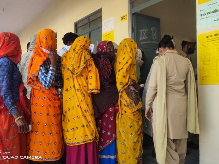 6 पंचायत समिति क्षेत्रों में डेलीगेट वा जिला पार्षद चुनाव में पहले चरण से करीब 9 पर्सेंट कम वोटिंग|अलवर,Alwar - Dainik Bhaskar