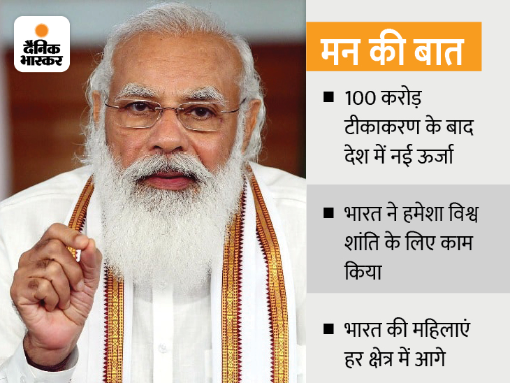 PM बोले- वैक्सीनेशन कैंपेन को बड़ी सफलता मिली, देश नई ऊर्जा से आगे बढ़ रहा देश,National - Dainik Bhaskar