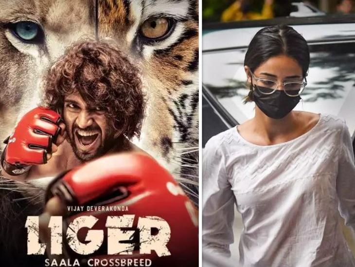 अनन्या पांडे से पूछताछ के बीच मुंबई में शूट हुआ 'लाइगर' फिल्म का गाना, विजय देवरकोंडा ने अकेले की शूटिंग बॉलीवुड,Bollywood - Dainik Bhaskar
