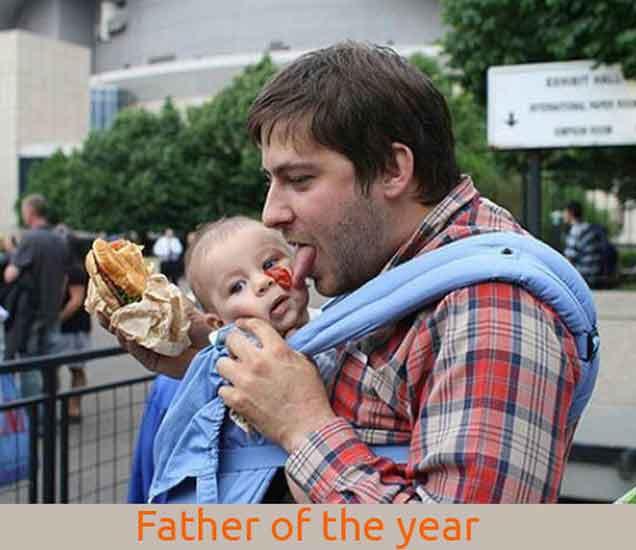 Funny: Father of the Year, पाहा, पितापुत्रांचे खळखळून हसवणारे फोटो| - Divya Marathi