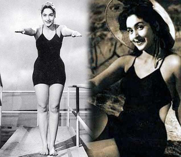 PHOTOS : पडद्यावर स्विमसूट परिधान करणा-या पहिल्या अभिनेत्री होत्या नूतन|देश,National - Divya Marathi