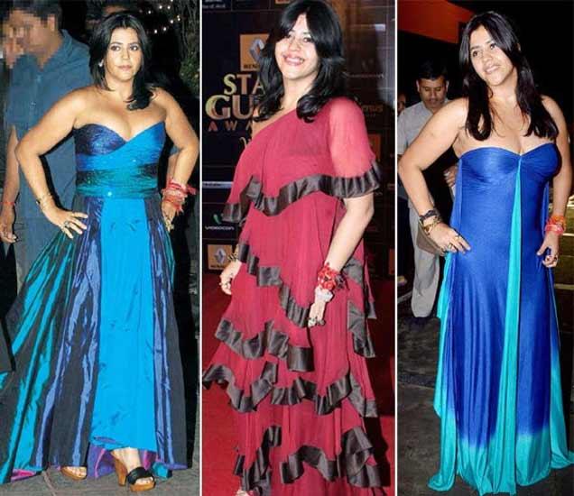 \'टीव्ही क्वीन\' एकता कपूरने नटण्याच्या नादात परिधान केले WORST DRESSES|देश,National - Divya Marathi