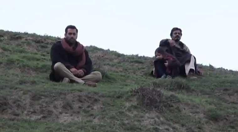 VIDEO : असे झाले सलमानच्या 'बजरंगी भाईजान'चे शूटिंग, पाहा मेकिंगची झलक| - Divya Marathi