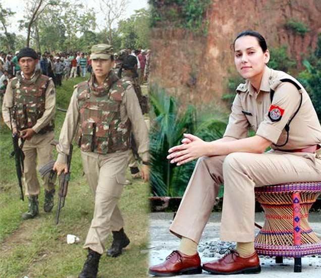 अासामच्या जंगलांमध्ये दहशतलाद्यांच्या विरोधात लढणाऱ्या IPS संजुक्ता पराशर. - Divya Marathi