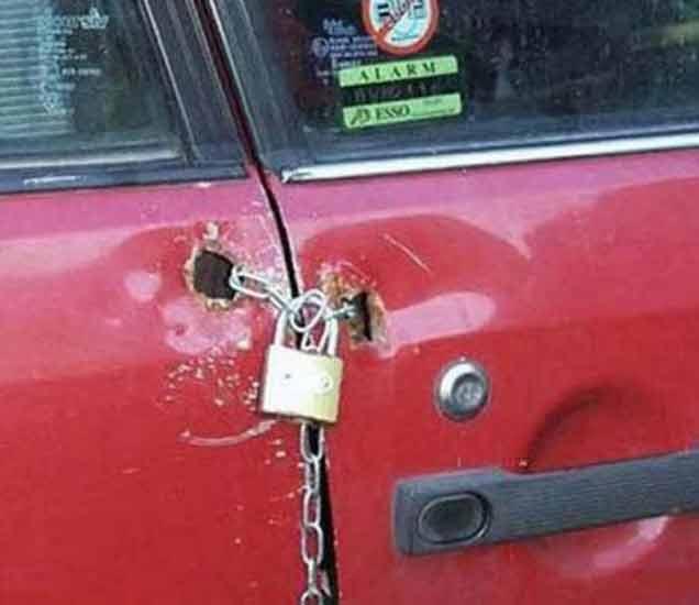 FUNNY: हे LOCK पाहून चोरसुध्दा कामसोडून खळखळून हसायला लागेल|देश,National - Divya Marathi