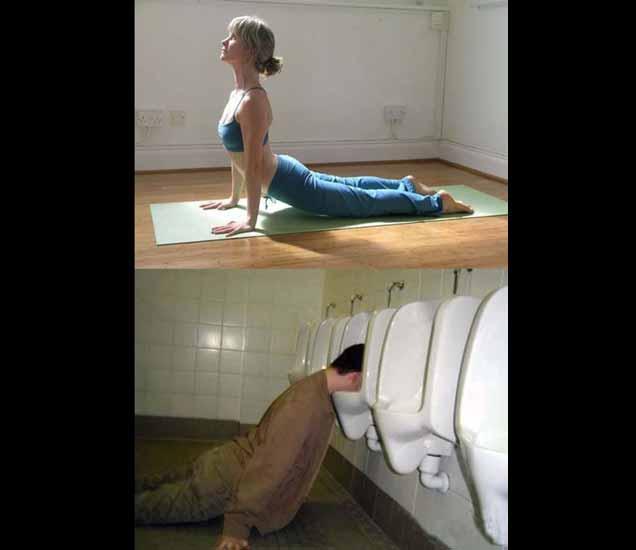 FUNNY YOGA: यांचा योगा पाहिला तर तुम्ही व्हाल SHOCK, हसून हसून होईल दमछाक| - Divya Marathi