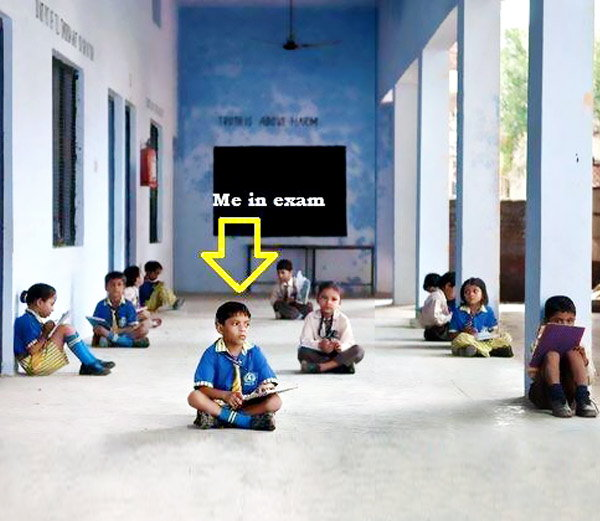 Funny School Session: बघा, अशाप्रकारे होत आहे अभ्यास  - Divya Marathi