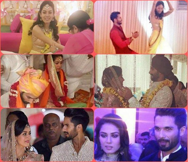 हळद, संगीत सेरेमनीपासून लग्न, रिसेप्शनपर्यंत, पाहा शाहिद-मीराचा Wedding Album|देश,National - Divya Marathi