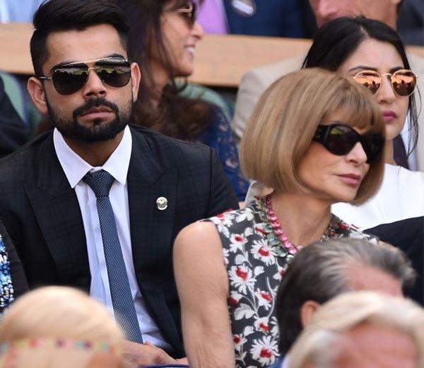 PHOTOS: अनुष्का आणि विराट पोहोचले विंबल्डन पाहायला, सचिन आणि डॉ. अंजलीही होते सोबत.|क्रिकेट,Cricket - Divya Marathi