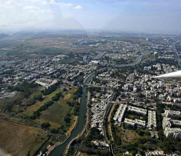 पुणे शहराचे आताचे छायाचित्र - Divya Marathi