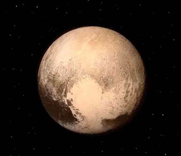 न्यू होराइजन्स स्पेसक्राफ्टने 15 जुलै रोजी पाठवलेले प्लुटोचे छायाचित्र. - Divya Marathi