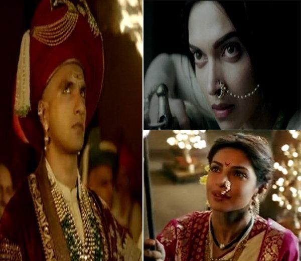 रणवीर-दीपिका-प्रियांका स्टारर बाजीराव मस्तानीचा Trailer रिलीज देश,National - Divya Marathi