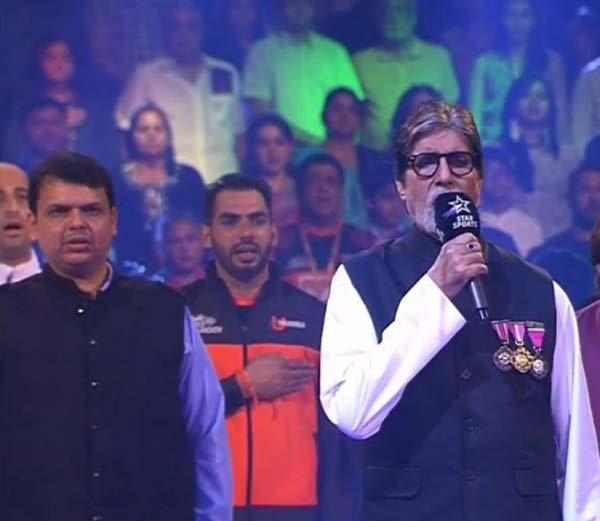 प्रो कबड्डी : उद्घाटन सोहळ्यात बिग बीचे राष्ट्रगीत गायन, आमिर, अभिषेकसह मुख्यमंत्र्यांची उपस्थिती|स्पोर्ट्स,Sports - Divya Marathi