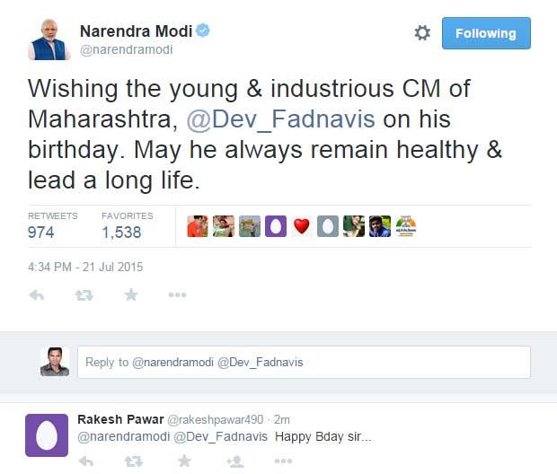 वाढदिवस साजरा न करण्याचे मुख्यमंत्र्यांचे आवाहन, मोदींच्या फडणवीसांना शुभेच्छा!|मुंबई,Mumbai - Divya Marathi