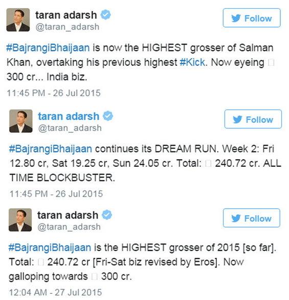 350 कोटी कमावून 'बजरंगी...' ठरला सलमानचा Highest Grosser सिनेमा|देश,National - Divya Marathi