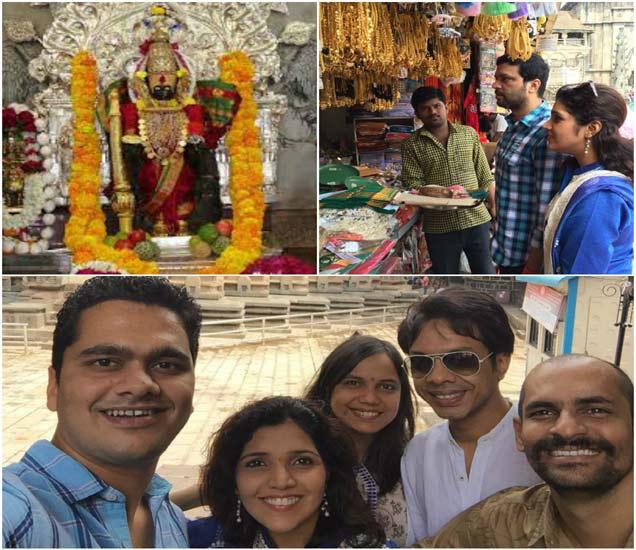 Spotted: मुक्ता-अंकुशने घेतले कोल्हापूरच्या महालक्ष्मीचे दर्शन, दर्शन घेतल्यावर काढले सेल्फी|मराठी सिनेकट्टा,Marathi Cinema - Divya Marathi
