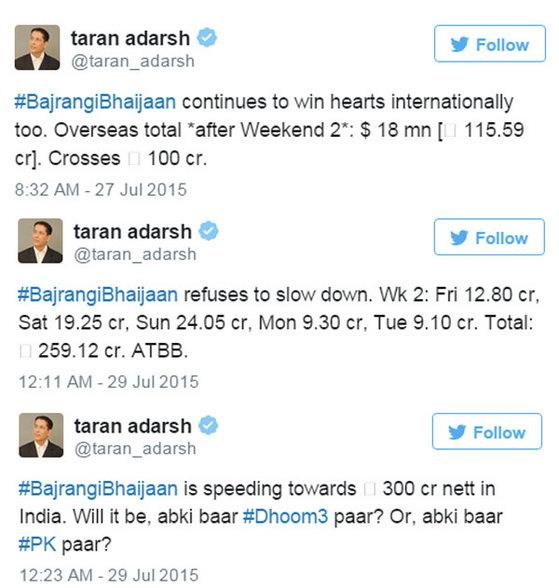 'बजरंगी...'ने मोडित काढला शाहरुखच्या 'चेन्नई एक्सप्रेस'चा रेकॉर्ड, कमवले '461 कोटी'|देश,National - Divya Marathi