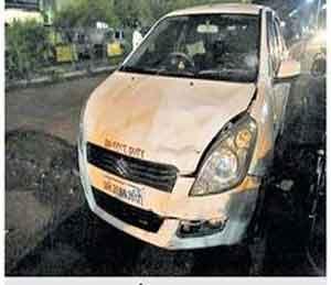 मोंढा उड्डाणपुलावर पहिला अपघात, दांपत्य गंभीर जखमी|औरंगाबाद,Aurangabad - Divya Marathi
