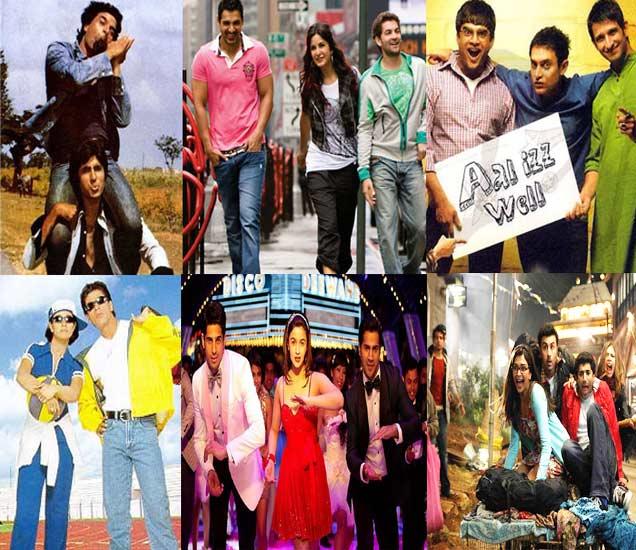 मैत्रीवर आधारित सिनेमांचे पोस्टर्स : शोले, न्यूयॉर्क, थ्री इडियट्स, कुछ कुछ होता है, स्टुडंट ऑफ द इयर आणि ये जवानी है दिवानी - Divya Marathi