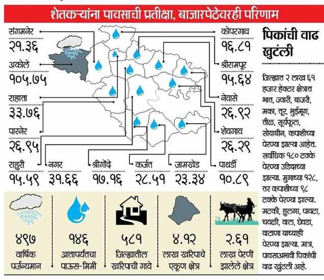 नगर जिल्ह्यातील तेरा तालुके काेरडेठाक, पावसाकडे डोळे अहमदनगर,Ahmednagar - Divya Marathi