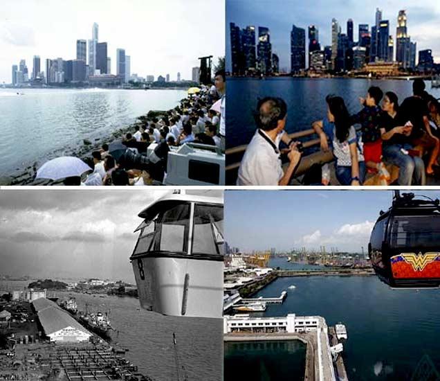 गेल्या 50 वर्षांमध्ये बदललेल्या सिंगापूरचे फोटो. - Divya Marathi
