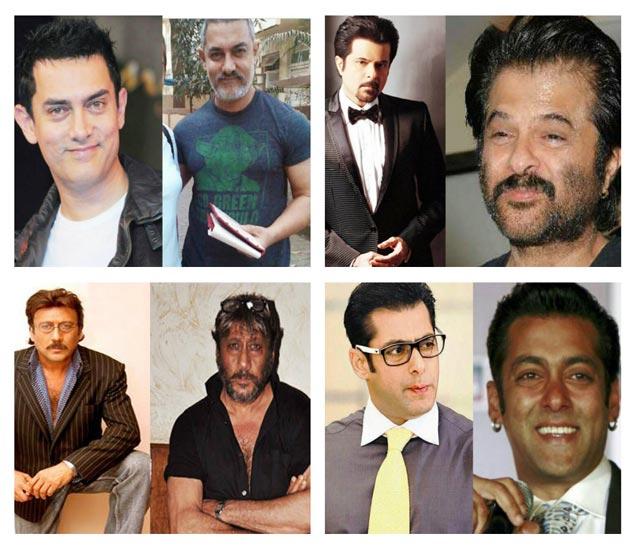 मेकअप आणि विदाऊट मेकअपमील आमिर खान, अनिल कपूर, जॅकी श्रॉफ आणि सलमानची छायाचित्रे - Divya Marathi