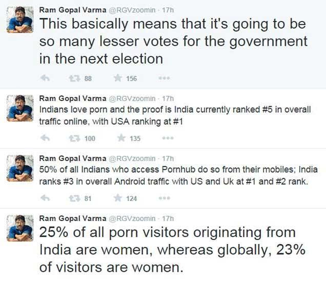 SEX करणेही सरकार शिकवणार का ? पोर्न साइड्स बॅनवर RGV भडकले|देश,National - Divya Marathi