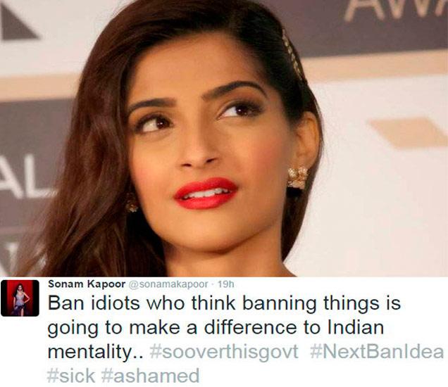 Porn Banवर भडकली सोनम, या बॉलिवूड सेलेब्सनेसुध्दा दिल्या Reaction  - Divya Marathi