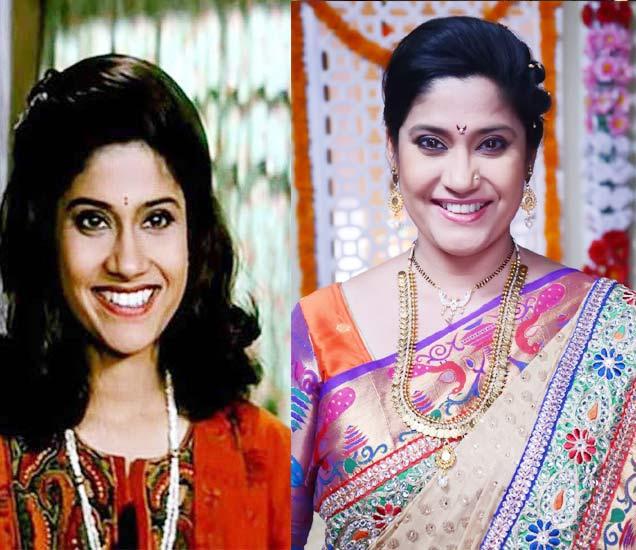 (फाइल फोटो- अभिनेत्री रेणुका शहाणे, तेव्हा आणि आता) - Divya Marathi
