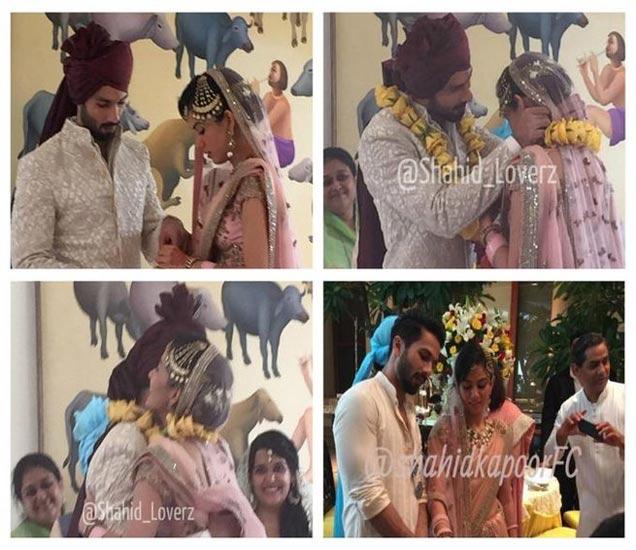 NEW PHOTOS: लग्नात शाहिद-मीराने कापला होता केक, अलिंगन देऊन व्यक्त केला आनंद देश,National - Divya Marathi