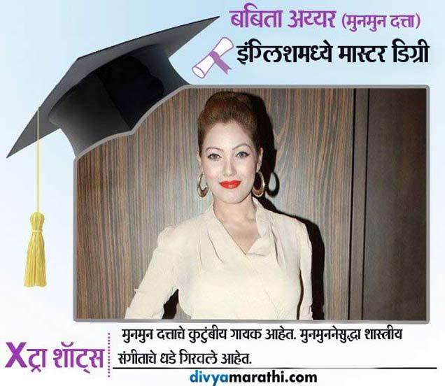 \'बबिता\'जी इंग्लिशमध्ये मास्टर, जाणून घ्या किती शिकले आहेत \'तारक मेहता...\'चे कलाकार टीव्ही,TV - Divya Marathi