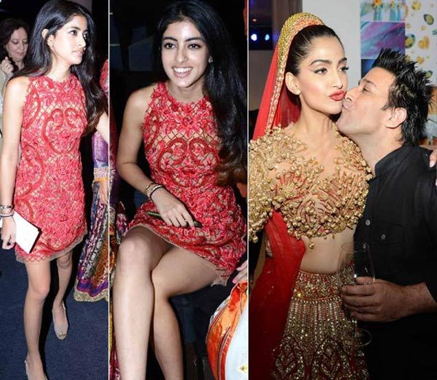 फॅशन शोमध्ये पहिल्यांदा दिसली बिग बींची नात नव्या नवेली, शो स्टॉपर बनली सोनम कपूर देश,National - Divya Marathi