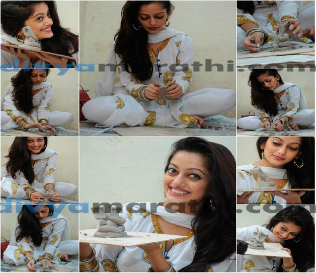 Xclusive: मानसी नाईकने बनवला इकोफ्रेंडली बाप्पा, divyamarathi.com च्या आवाहनाला साद|मराठी सिनेकट्टा,Marathi Cinema - Divya Marathi